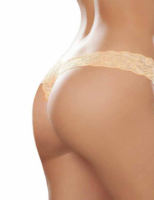 Floral Lace Bow Detail Thong