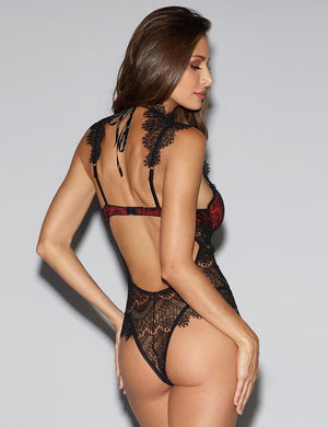 Halter Lace Push Up Teddy - Missbodybra