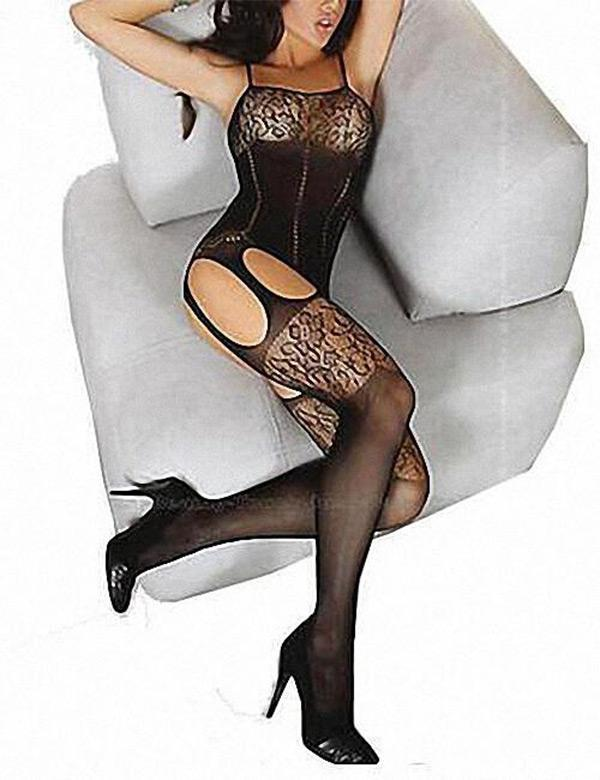Lace & Mesh Body Stocking - Missbodybra