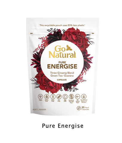 Go Natural Vitamins Botanical eco friendly Pure energise