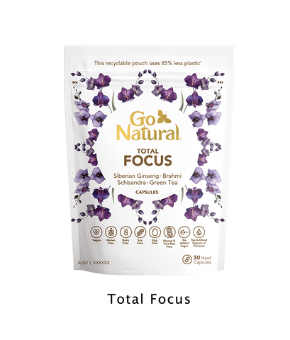 Go Natural Vitamins Botanical eco friendly Total focus