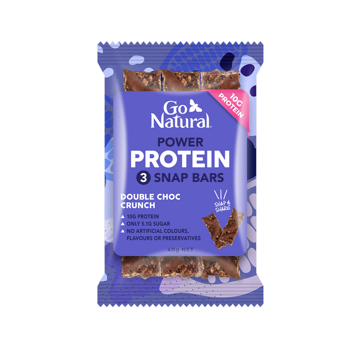 10g protein SNAP BAR (30g protein per 7xsnap pack) for hunger buster plus helps muscle recovery.