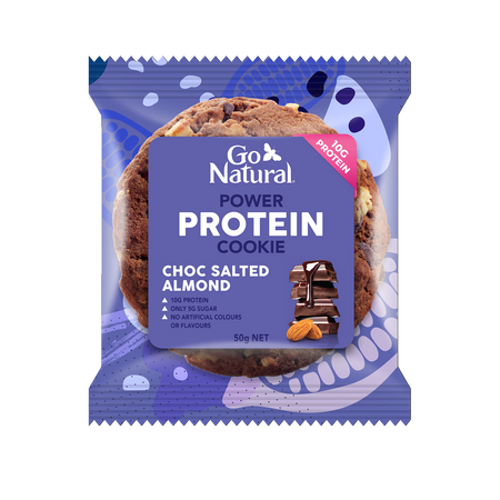 10g protein 50g cookie with choc salted almonds