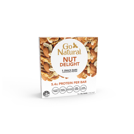 NUT DELIGHT CHOPPED 175g Box (5x 35g) - MINIMUM ORDER QTY 8x 175g