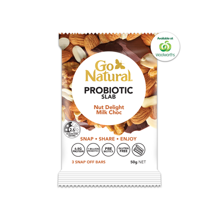 PROBIOTIC SLAB - NUT DELIGHT MILK CHOC 10x 50g