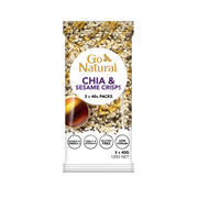 Go Natural Chia and Sesame Crisps - source of Omega 3. Gluten Free.