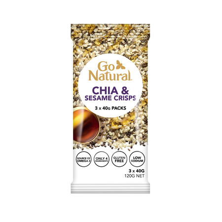 Go Natural Chia and Sesame Crisps