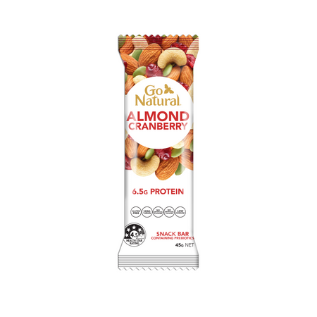 Go Natural Snack Bar Almond Cranberry Bar Containing Prebiotics