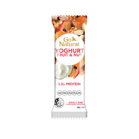 Go Natural Snack Bar Yoghurt Fruit and Nut Bar Containing Prebiotics
