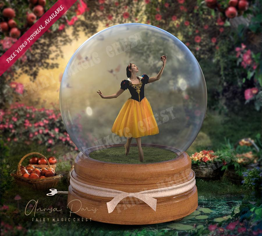 How to put your model inside a Snow Globe in Photoshop