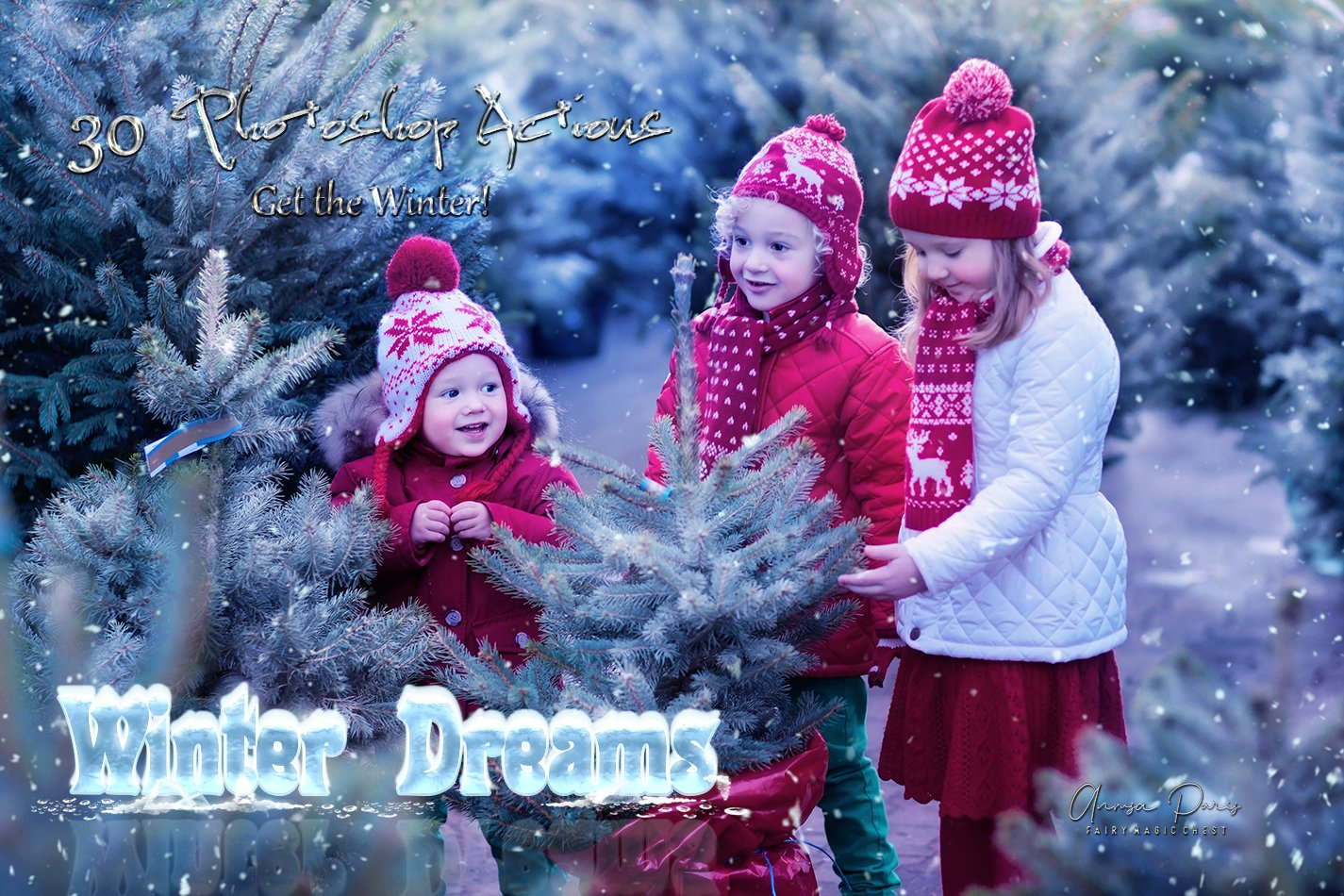 "Editing with ""Winter Dreams"" Photoshop Actions. Free Video."