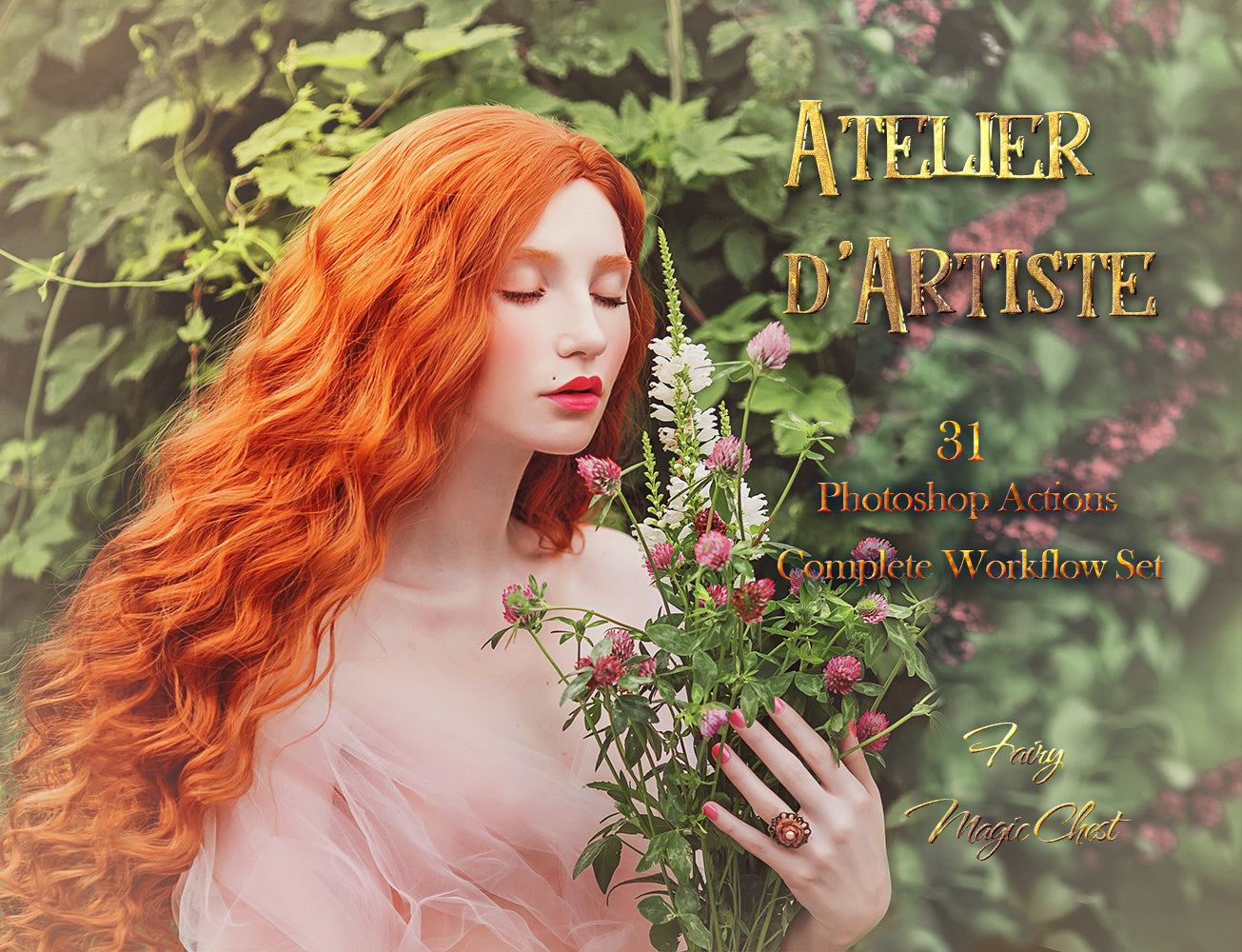 "Editing with ""Atelier d'Artiste"" Photoshop Actions. Free video tutorials."