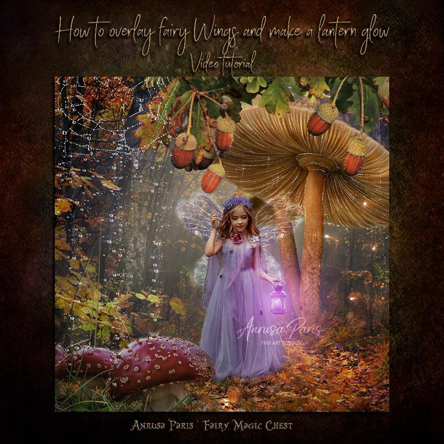 How to overlay fairy wings and make a lantern glow