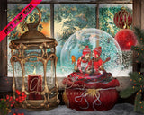 anrusa-paris-fairy-magic-chest - Snowglobe - Snow Globe Christmas Digital Background / Backdrop and cover up ready to use - Fairy Magic Chest & Anrusa Paris - digital background / backdrop