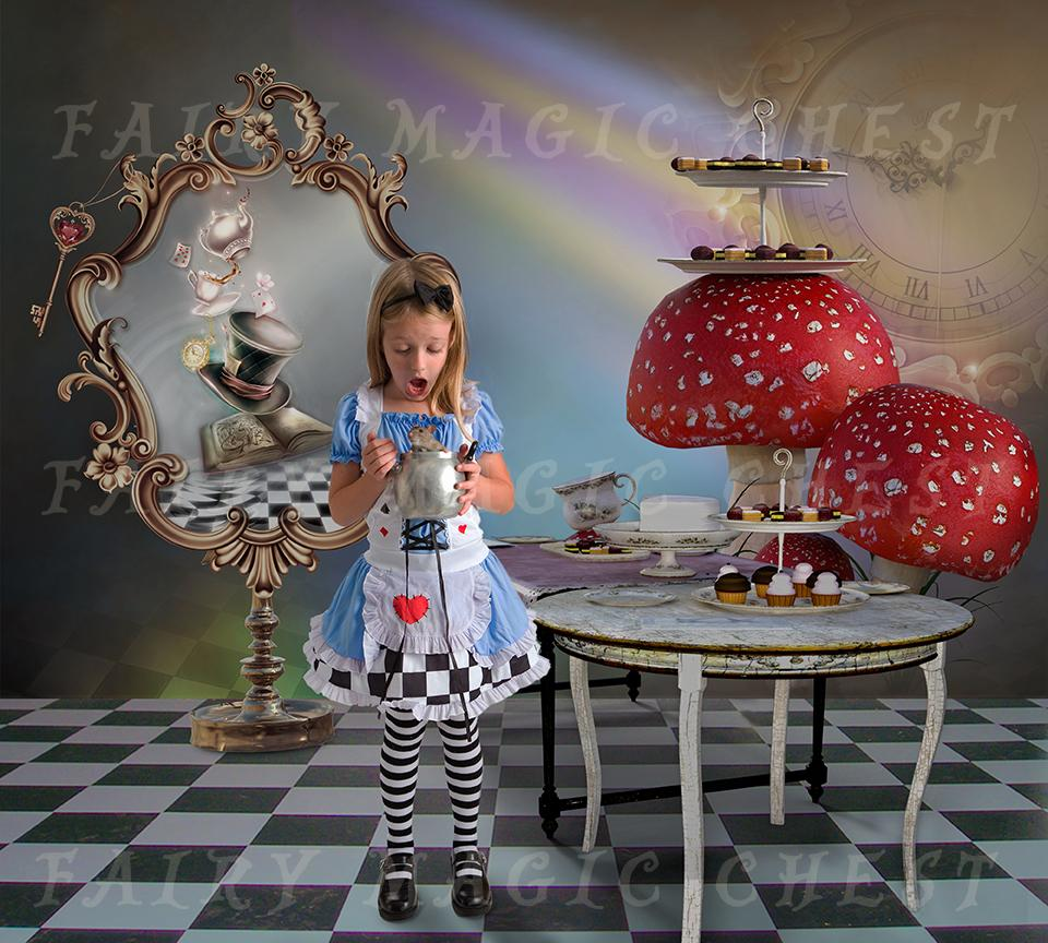 Digital Background Alice in Wonderland by Fairy Magic Chest