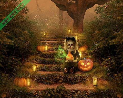 Digital background Halloween themed
