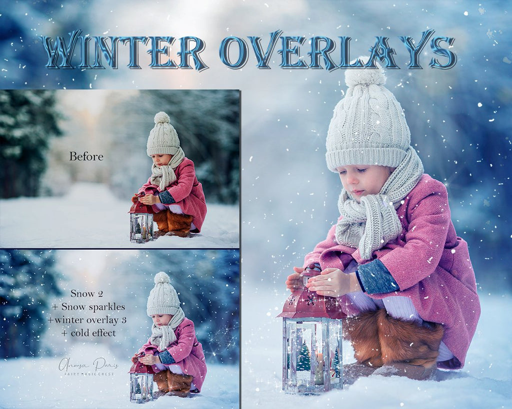 Winter overlays , snow, sparkles, color