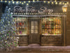 Christmas digital background / backdrop with old Toys Shop , great old shoppe for photography and Photoshop