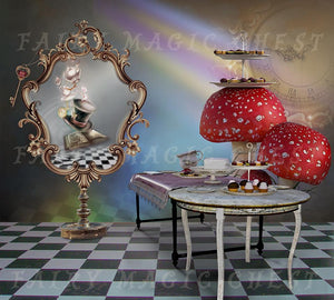 Digital background / backdrop Alice in Wonderland by Fairy Magic Chest