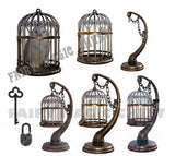 Pack with owl on cage overlay png , varied hanging cages and accessoires - Fairy Magic Chest