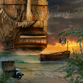 anrusa-paris-fairy-magic-chest - Pirate digital background / digital backdrop , ship on the beach - Anrusa Paris & Fairy Magic Chest - digital background / backdrop