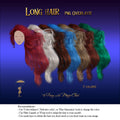 Long Hair Overlay , png, different colours on separate layers, digital overlays for Photoshop