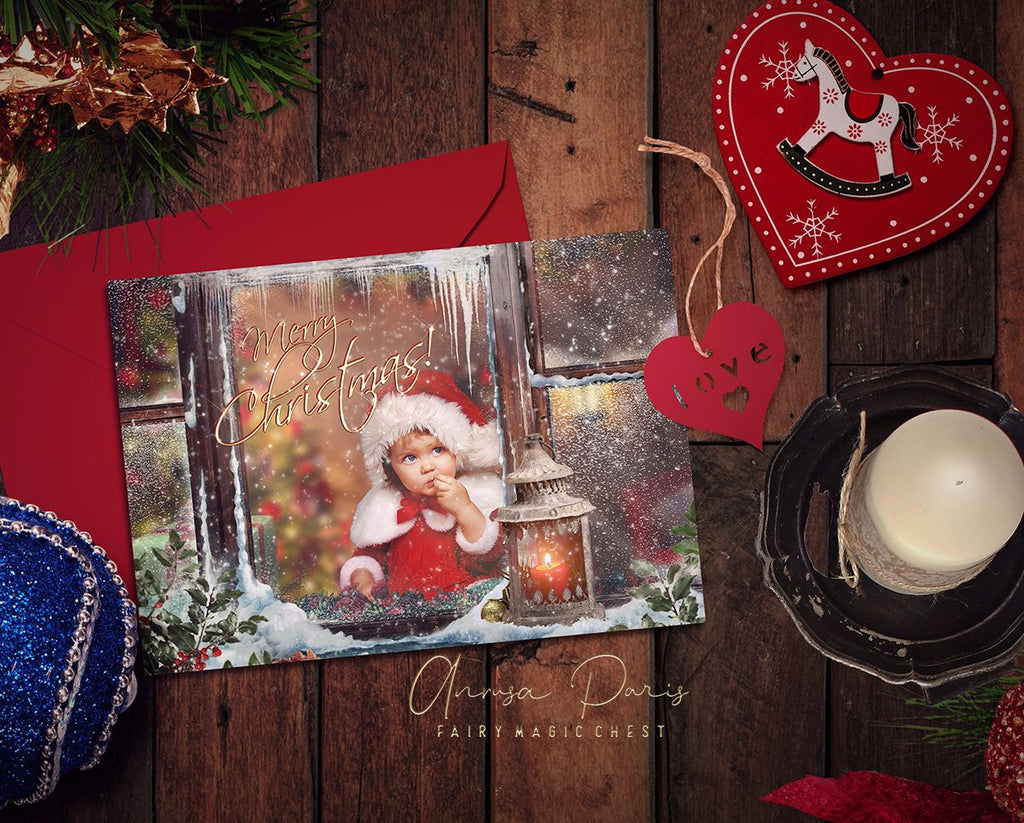 anrusa-paris-fairy-magic-chest - Christmas Photo Card template , psd file - Fairy Magic Chest & Anrusa Paris - Template