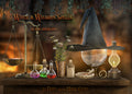 Overlays png , cauldron, potions, Witch hat and cane, pumpkin, herbs, magic ball, and things for witch and wizard spells