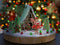 Christmas digital backdrop , Gingerbread house , digital backdrop for photography