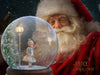 Santa with SnowGlobe digital backdrop , LAYERED PSD , Snow globe Santa Claus digital backdrop / background . Digital backdrop .jpg included.
