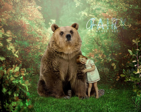Digital background bear in forest