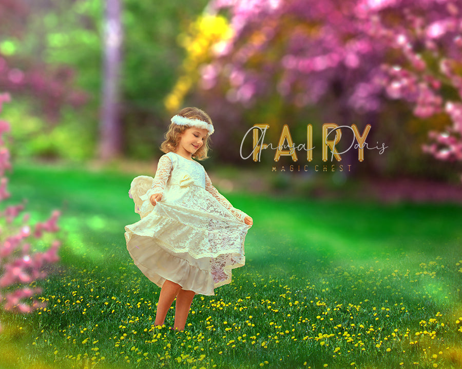 anrusa-paris-fairy-magic-chest - Digital background spring / summer, flowers and bokeh - Fairy Magic Chest & Anrusa Paris - digital background / backdrop