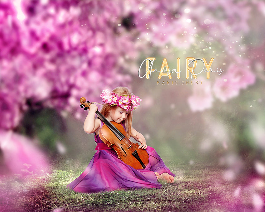 anrusa-paris-fairy-magic-chest - Spring digital background / backdrop cherry blossom - Fairy Magic Chest & Anrusa Paris - digital background / backdrop