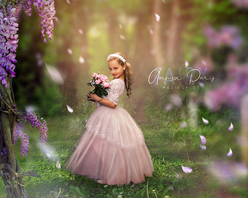 anrusa-paris-fairy-magic-chest - Spring digital background with lilacs , digital backdrop - Anrusa Paris & Fairy Magic Chest - digital background / backdrop