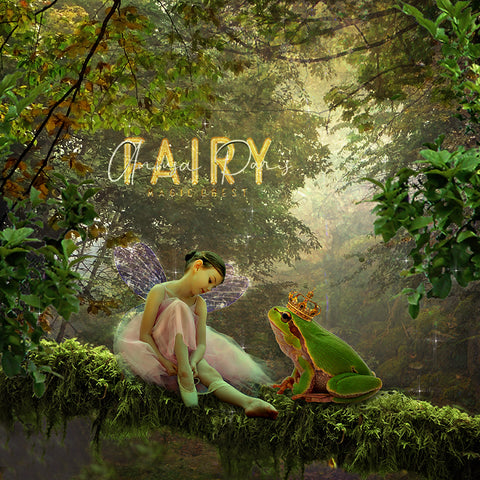 Digital background / backdrop prince frog fairy tale