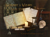 Overlays png , books, old papers, candles, inkwell, skull, hourglass and bell, great for an alchemist's desktop