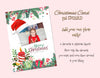 Christmas Photo Card , template for Photoshop , editable, add your photo, 6 individual decorative items. Vintage style.