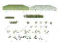 Grass overlays , png on transparent background