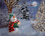 Digital background with Snowman great for Christmas