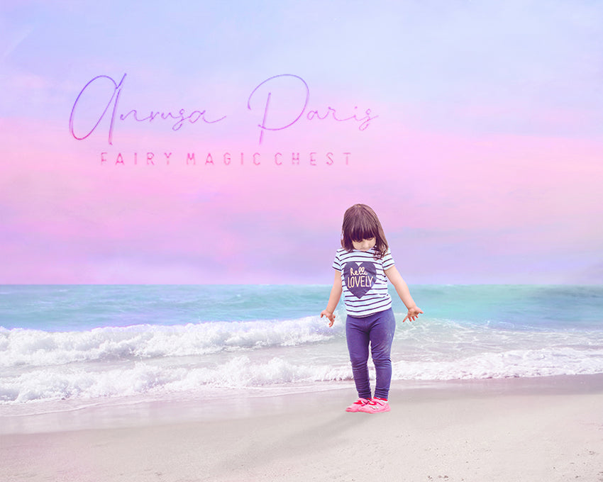 anrusa-paris-fairy-magic-chest - Pastel beach digital background , summer digital backdrop - Fairy Magic Chest & Anrusa Paris - digital background / backdrop