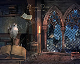 Wizardry School digital background, inspired by Harry Potter