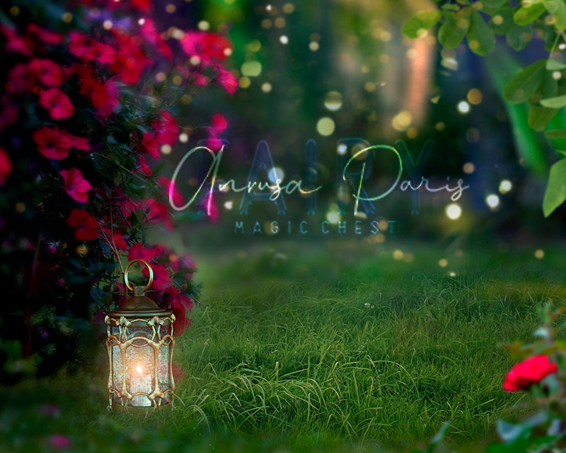 anrusa-paris-fairy-magic-chest - Spring / Summer night digital background, digital backdrop - Anrusa Paris & Fairy Magic Chest - digital background / backdrop