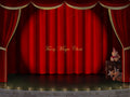 Digital backdrop of a Theatre Stage with red Curtains. Digital Background for composite photography.