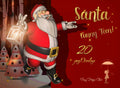 Santa Overlays png , Funny Santa toon, 20 poses, clip art for scrapbooking , Christmas cards , tags, website, digital art