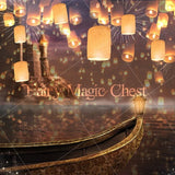 Digital background / backdrop princess , floating lanterns