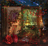 anrusa-paris-fairy-magic-chest - Paris magical book digital background / backdrop - Anrusa Paris & Fairy Magic Chest - digital background / backdrop