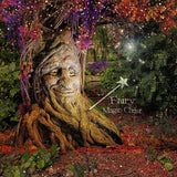 Digital background / backdrop tree with face smiling