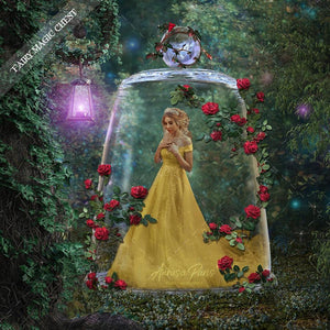 Beauty and the beast inspired digital background and overlay