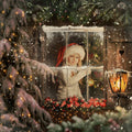 anrusa-paris-fairy-magic-chest - Christmas digital background, Magical window Overlay with crystals to place over the model - Anrusa Paris & Fairy Magic Chest - digital background / backdrop