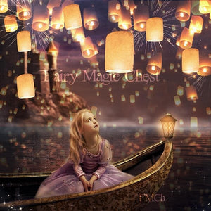 Floating lanterns digital background , Rapunzel inspired